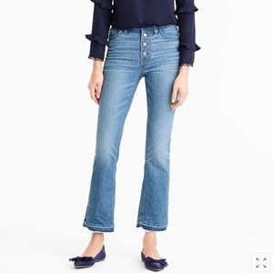 J.Crew Demi boot crop button fly jeans